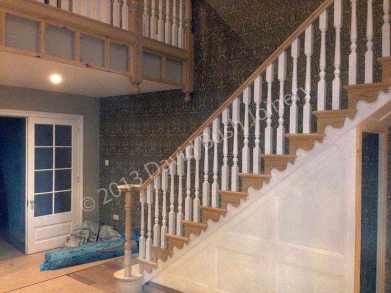 Cut String Ash Staircase With Under Stair Panelling